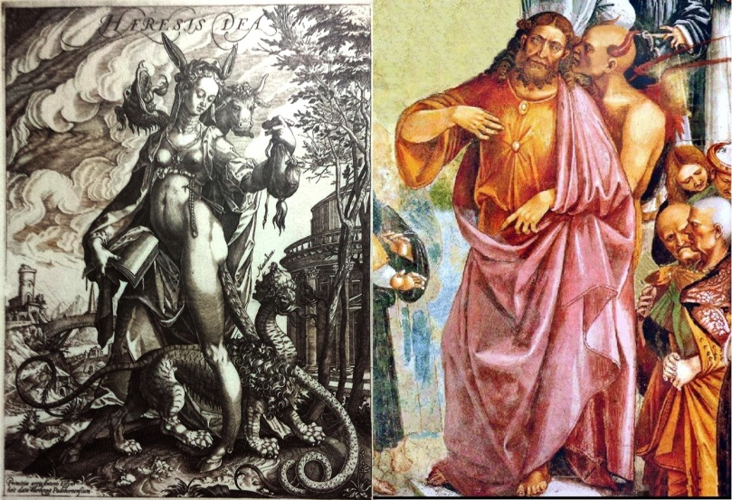 Ribellie Eretici al Sinodo con a capo Anticristo